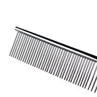"""Pettom Pet Stainless Steel Grooming Tool Poodle Finishing Butter Comb, 7 1/2"""" L"""