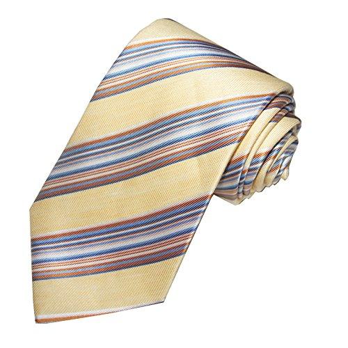 turnbull-asser-pour-homme-70-soie-30-lin-cravate-rayures-bleu-jaune-orange