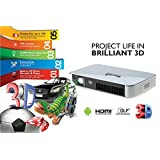 Merlin 3D Projector Android With 2 3D Rechargeable Glasses-3D Mouse-Wireless Keyboard