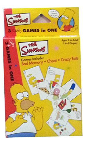 The Simpsons 3 Card Games in One by Rose Art - 1