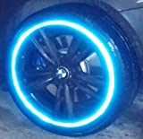 @customTAYLOR33 Patented High Intensity Grade BLUE Reflective Rim/Wheel Tapes - #1 SAFETY USA Motorcycles Bicycles Cars Trucks Scooters Vans ATVs Fixie Mopeds Bikes Cycling BMX Strips TRON