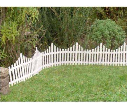Mini White Picket Fence x 4 panels