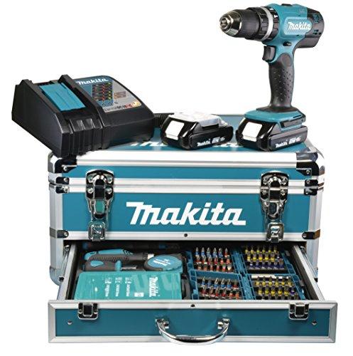 Makita-Akku-Schlagbohrschrauber-18-V-15-Ah-im-Alukoffer-inklusive-96-teilig-Zubehrset-DHP453RYX2