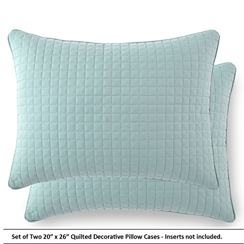 Southshore Fine Linens® Set of Two Decorative Quilted Pillow Covers (Two 20