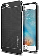 iPhone 6s Case, Spigen [Metallized Buttons] Neo Hybrid Case for Apple iPhone 6 (2014) / iPhone 6s (2015) - Satin Silver (SGP11620)