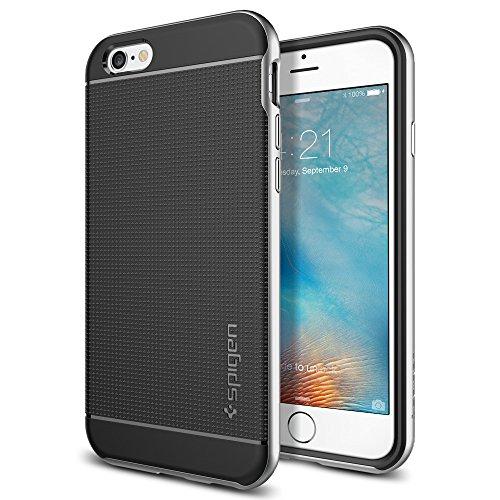 【Spigen】 iPhone6s ケース ネオ・ハイブリッド  [ 二重構造 スリム フィット ] アイフォン6s / 6 用 カバー 米軍MIL規格取得 (サテン・シルバー SGP11620)