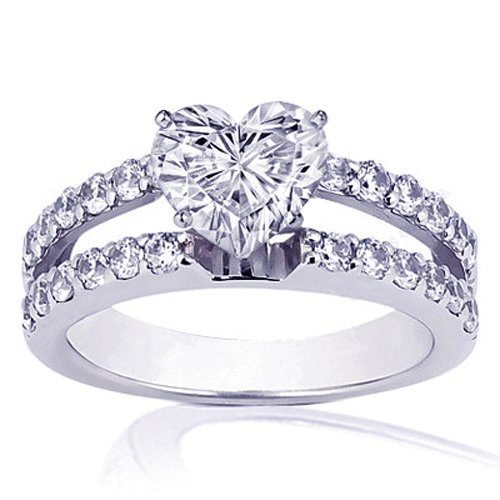 1.40 Ct Heart Shaped Diamond Engagement Ring 