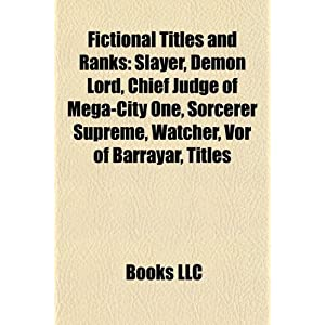 Fictional Titles And Ranks | RM.
