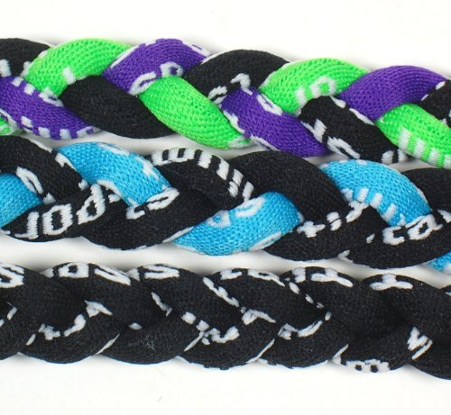 NEW! Extreme Sports 3-Pack of Tornado Necklaces (Light Blue Black-Black-Neon Green Purple Black) (Monster Energy Necklace compare prices)