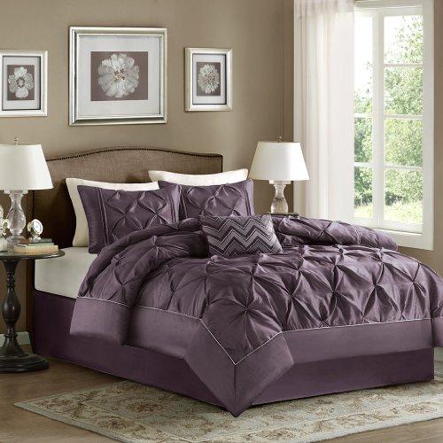 Home Essence Madeline 5 Piece Comforter Set  Queen  Plum. Purple Comforter Sets   Purple Bedroom Ideas