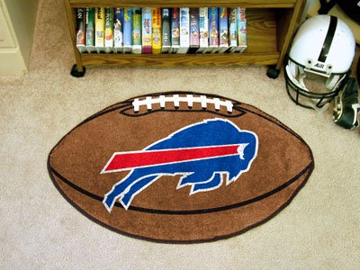 Buffalo Bills Football Shaped Area Rug Welcome/Door Mat