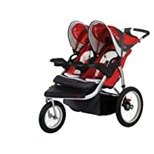 Schwinn Turismo Swivel-Wheel Double Jogger Stroller