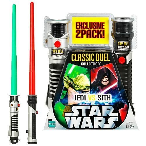 Buy Star Wars Yoda vs. Darth Sidious Lightsaber Set