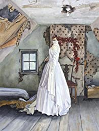 Attic Treasure, Giclée Print of Antique Wedding Dress in an Old Attic, 10 x 13 Inches