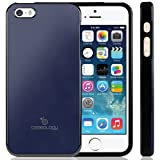 Caseology Caseology Apple iPhone 5 / 5S [Saffiano Hybrid Series] - Premium Matte Leather Shock Absorbent TPU Bumper Case (Navy Blue) [Made in Korea]