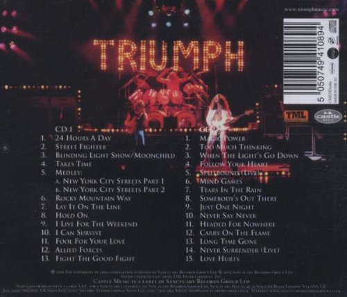 Original album cover of Livin' For The Weekend: The Anthology by Triumph