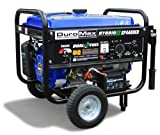 DuroMax XP4400EH 7 HP Dual Fuel Propane/Gas Powered Portable Electric Start Generator, 4400-Watt