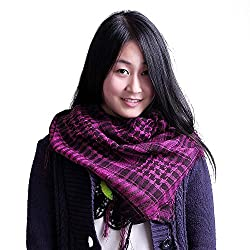 Anuze Fashions New Styles Scarves Arab Shemagh Arafat Scarf For Women's And Girl's (HOT PINK ARAFAT-JQW287-LIKSXZ3)