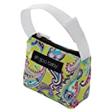 Ah Goo Baby Pacifier Tote, Bloom, Lime/Multi, 1-Pack