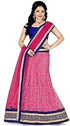 Sweety Plus Women's Raw Silk Net Lehenga Choli (Pack Of 2) (Mira_0010_Pink_Free Size)