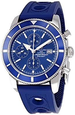 Breitling Men's A1332016/C758 SuperOcean Heritage Chronograph Blue Chronograph Dial Watch