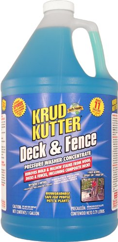 Krud Kutter DF01 Blue Pressure Washer Concentrate Deck and Fence Cleaner with Sweet Odor, 1 Gallon (Wood Deck Cleaner compare prices)