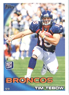 2010 Topps NFL Football Card # 440 Tim Tebow RC - Denver Broncos ( Rookie Card) NFL Trading Card in a Protective ScrewDown Case!
