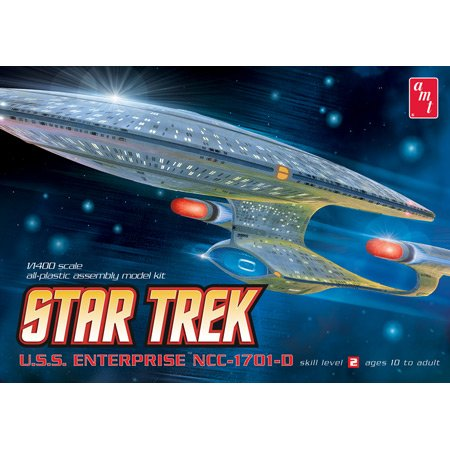 Round 2 AMT Star Trek Enterprise 1701D Clear Ed