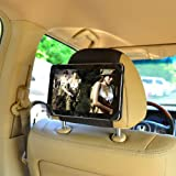 TFY 7-Inch Tablet PC Car Headrest Mount, Fast-Attach Fast-Release Edition, Black