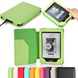 "MoKo Cover Case for for Amazon All-New Kindle Paperwhite (Both 2012 and 2013 versions with 6"" Display and Built-in Light), GREEN (With Smart Auto Sleep/Wake feature) ~ MoKo"