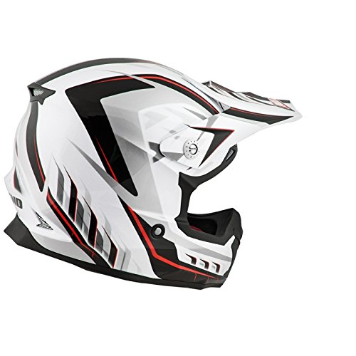 NO END - CASQUE CROSS NOEND DEFCON 5 WHITE/RED XL