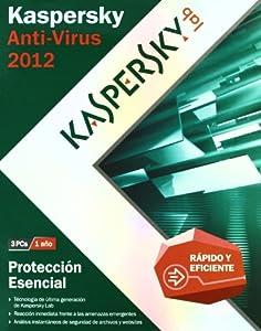 Kaspersky Antivirus 2012  3 licencias - base - 1 año
