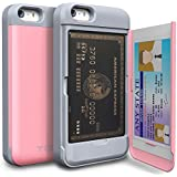 iPhone 5 Case, TORU® [Shockproof] iPhone 5S Credit Card Case [CX Pro] [Pink] Protective Hybrid Kickstand Case with Card Slot Wallet for iPhone 5S / 5 - Pastel Pink (115STPUSKS-PK)