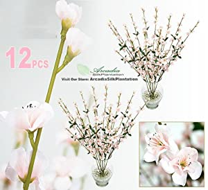 Holiday Package of 12 White Pearl Berry Floral Sprays for Christmas Party and Wedding Decorating Darice