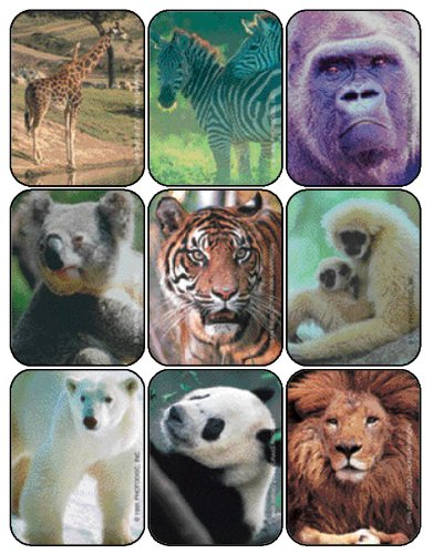 Eureka Zoo Animals Stickers