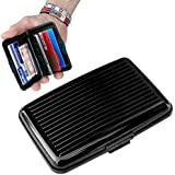 Porte-Cartes *NOIR* CB Carte Bleue Visite ALUMINIUM RIGIDE Security Credit Cards Wallet Holder *NOIR*