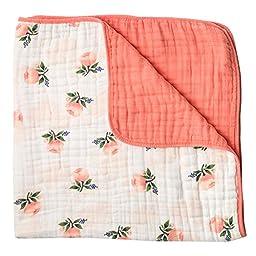 Little Unicorn Cotton Muslin Quilt Blanket - Watercolor Rose