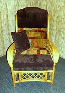Luxury Cushion Covers for Cane Wicker and Rattan Conservatory and Garden Furniture - Brown and Tapestry Chenilles - RRP £79.99 from Zippy UK