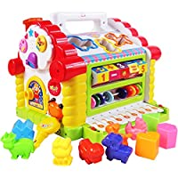 Huile Toys Colorful And Attractive Funny Cottage Educational Toy For Children - Beads, Maths, Shapes, Music Organ And A Lot More