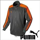 プーマ【PUMA】 日本製 トレーニングウェアトラック ジャケット ジャージ 上 862220 チャコール×オレンジ SS(155~164cm) 国内正規品