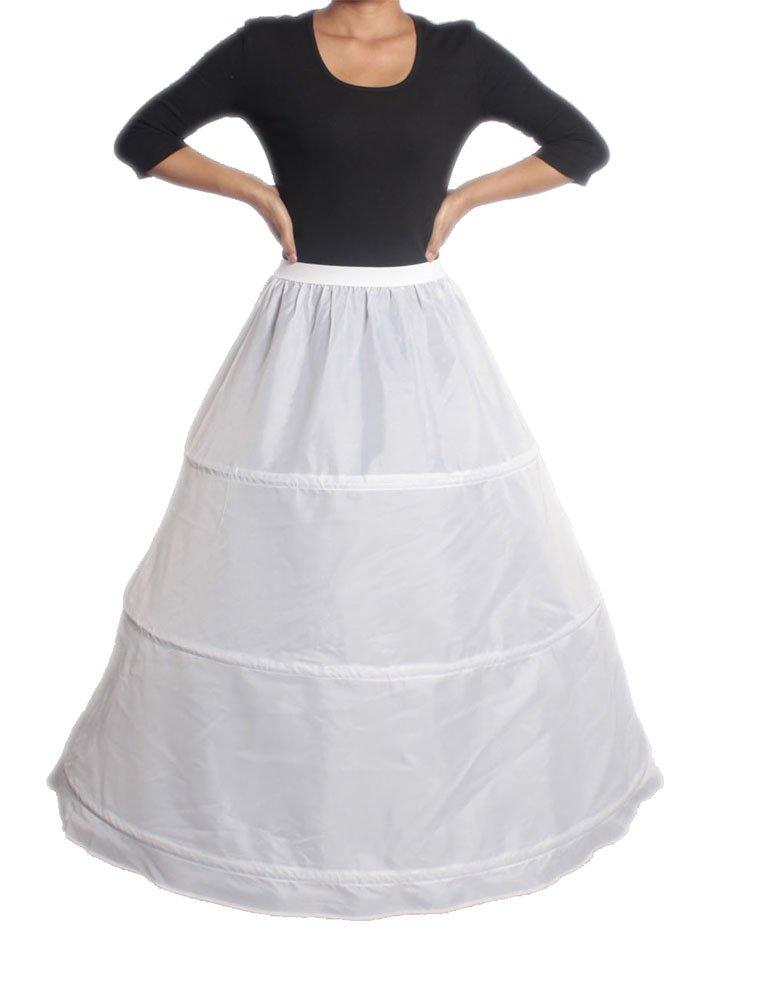 XYX Frauen-Hochzeits PetticoatUnderskirt Schlupf Krinoline 3 BAND WEISS XS-M online bestellen