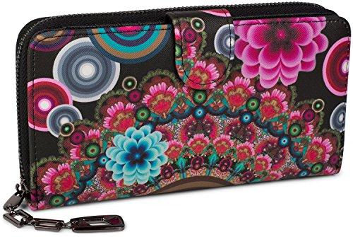 stylebreaker-portefeuille-a-motifs-de-fleurs-ethniques-differents-dessin-vintage-fermeture-a-glissie