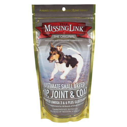 Missing Link Ultimate Small Breed Hip,Joint & Coat for Dogs, 8-Ounce
