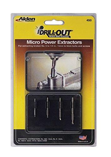 Alden 4507P Micro Grabit Broken Bolt Extractor 4 Piece Kit (Slow Speed Drill compare prices)