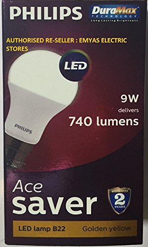 Ace-Saver-9.5W-LED-Bulb-(Warm-white-and-Golden-Yellow)