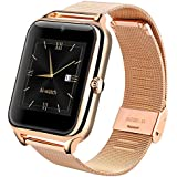 Lemfo LF11 Bluetooth Smart Watch Cell Phone GSM Pedometer Fitness Tracker 430mAh Silver Gold