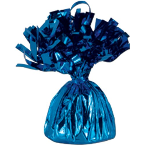 Blue Metallic Balloon Weight, 6oz 6 Per Pack - 1
