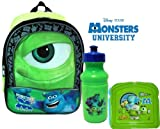 Disney Pixar MONSTERS UNIVERSITY 11 Mini Toddler Pre-school Backpack with Lunch Set