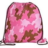 Camouflage Print Drawstring Bacpack Trade Show Giveaway