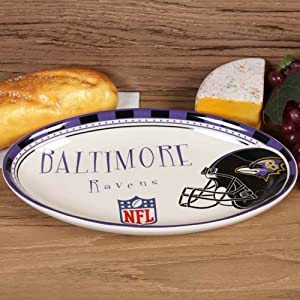 Amazon.com: NFL Baltimore Ravens Game Day Oval Ceramic Platter